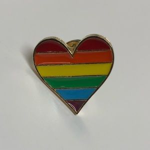 2/$15 Rainbow Pride Heart Pin